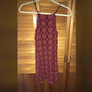 Brandy melville red spaghetti strap dress